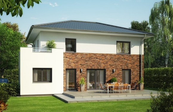 The single 4 Bedrooms family house plan 9.5x13m