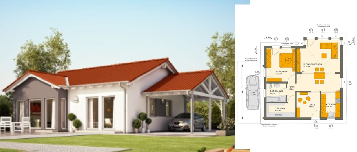 Modern Simple with a Pitched Roof 10.4×10