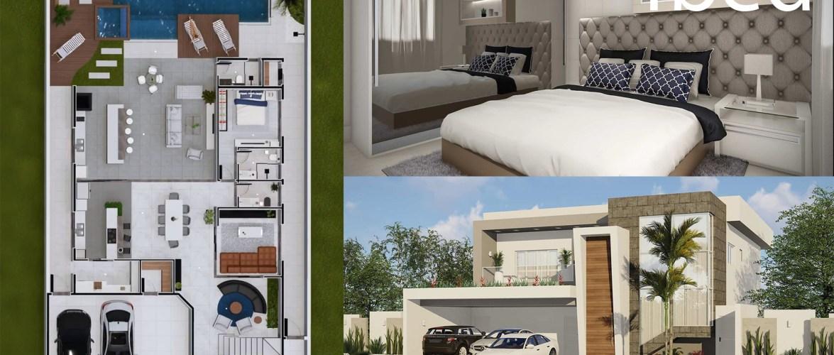 4 Bedrooms Home Design 15x30m