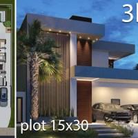 Home Design 15x30 Meters 3 Bedrooms