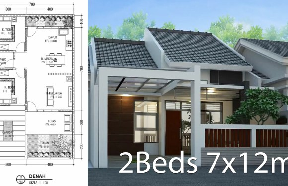 Minimalist Floor Design One Floor House 7x12M