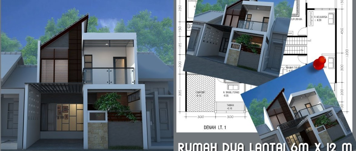 Minimalist home design on land of 6m x 12m