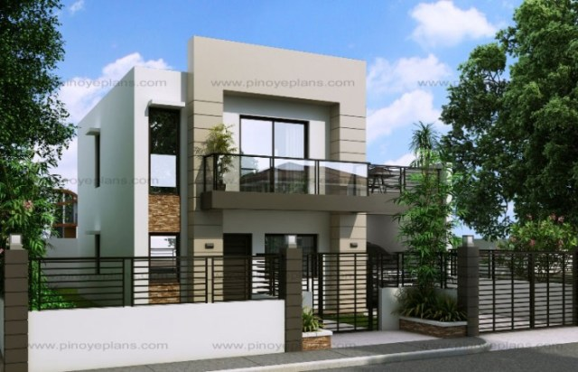 House design 11x13m with 3 bedrooms