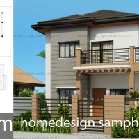 House Design Plans 13x16m with 5 Bedrooms