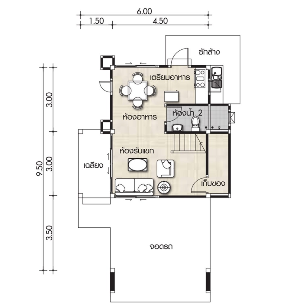 2 Bedrooms House Archives House Plans 3d