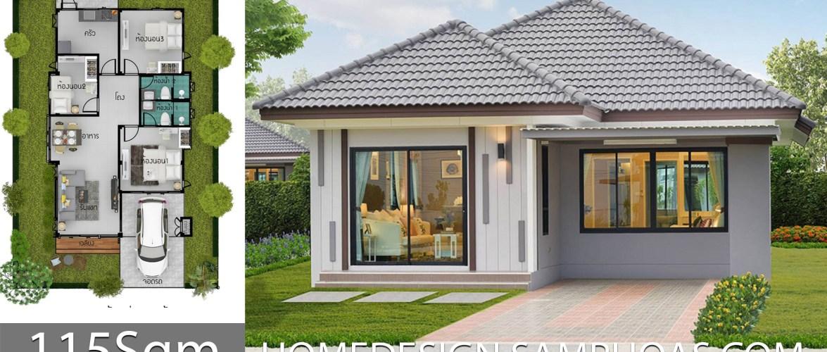 115 Sqm 3 Bedrooms Home design idea