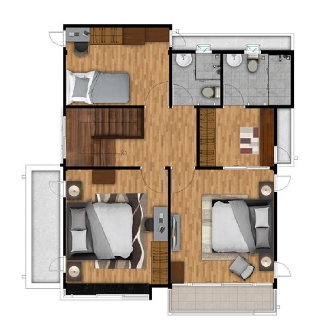 150 Sqm Home Design Plans With 3 Bedrooms Home Ideas