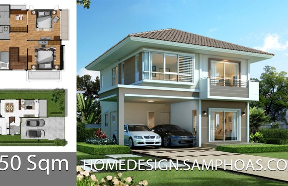 150 Sqm Home design Plans with 3 bedrooms
