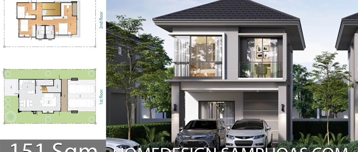 151 Sqm Home design plan with 3 bedrooms