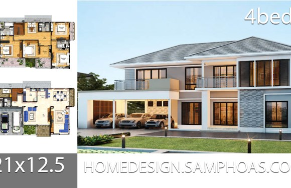 House Plans Idea 21×12.5 with 4 bedrooms