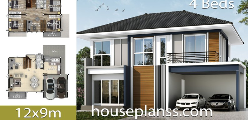 House Design Idea 12×9 with 4 bedrooms