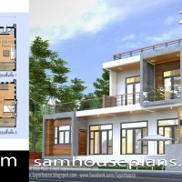 House Plans Idea 13x7.5m with 2 Bedrooms