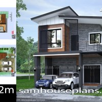 House Plans Idea 6.7x14.2m with 4 Bedrooms