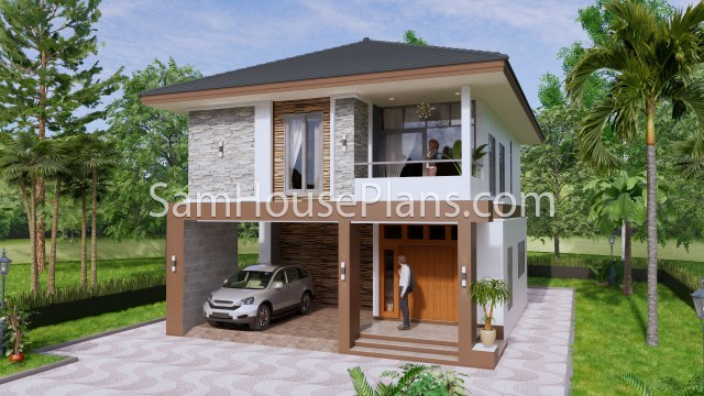 27x40 Feet House Plans 8x10 Meters 4 Bedrooms A1
