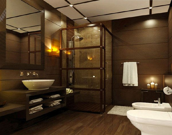 20 Beautifully Done Wooden Bathroom Designs   Home Design Lover Wooden Bathroom