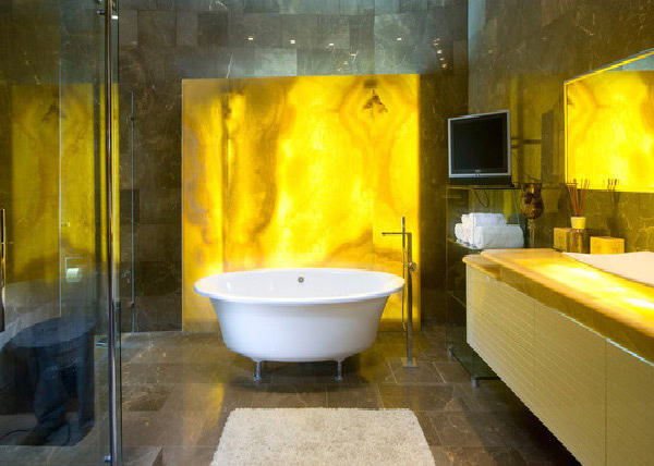 15 Charming Yellow Bathroom Design Ideas | Home Design Lover