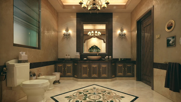 20 Luxurious And Comfortable Classic Bathroom Designs