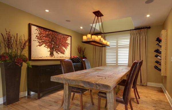 Diy Curtains Burlap Dining Room