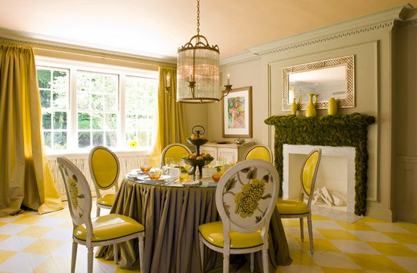 17 Bright And Pretty Yellow Dining Room Designs Home Design Lover