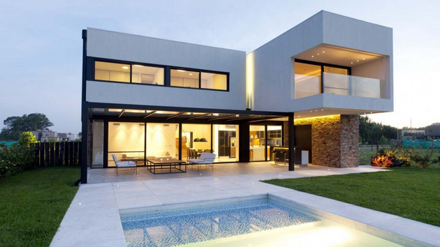The Modern Design Of A House In Buenos Aires Argentina