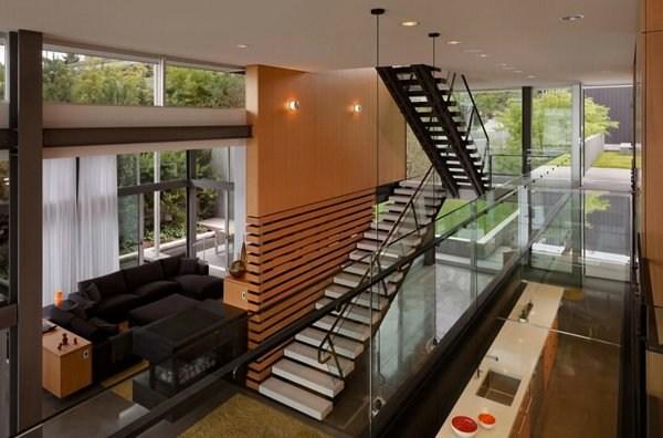 15 Concrete Interior Staircase Designs Home Design Lover | Floating Concrete Steps Designs | Exterior | Landscape | House | Sidewalk | Cement