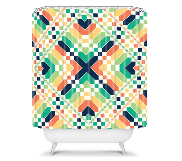 15 Bright And Colorful Shower Curtain Designs Home
