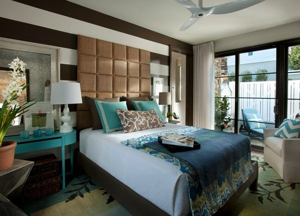 beautiful brown and blue bedroom ideas