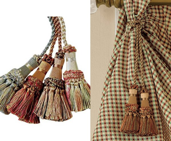 Accessorize Curtains With 15 Rope And Tassel Tiebacks Home Design Lover