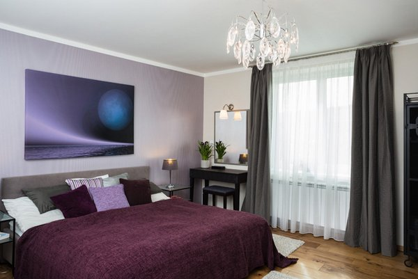 15 Stunning Black White And Purple Bedrooms Home Design Lover