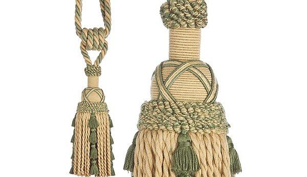 15 rope and tassel tiebacks