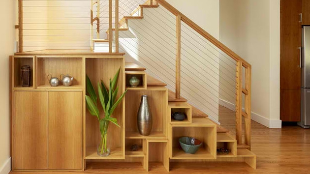 15 Ideas For Space Saving Under Staircase Shelves Home Design Lover | Wardrobe Design Under Stairs | Shoe Rack | California Closets | Shoe | Space | Stairs Storage Solutions
