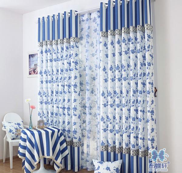 15 ideas of blue window panel curtains