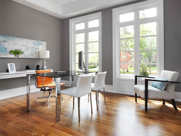 15 Ideas for Contemporary Gray Home Office Designs | Home ...