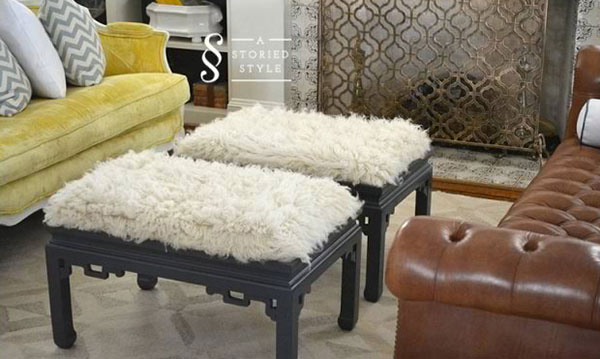 Rolling Ottoman Coffee Table