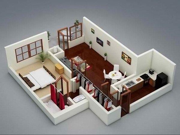 Single Bedroom One Bedroom House Plan Novocom Top