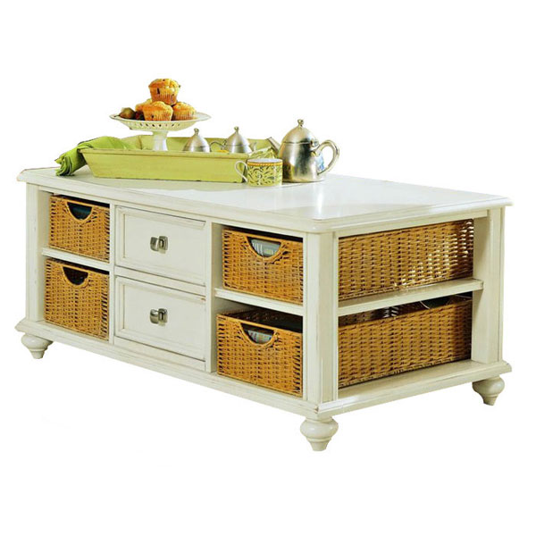 well designed coffee tables with basket