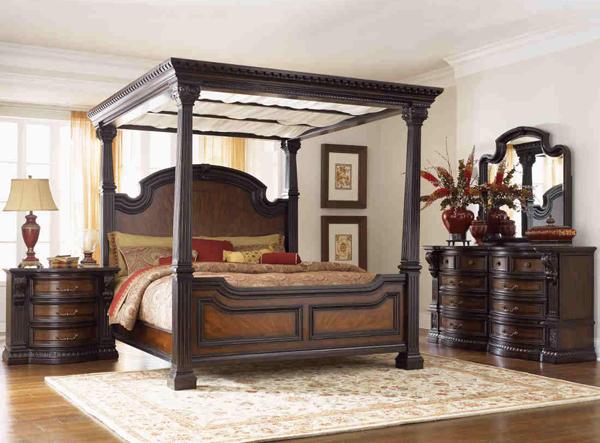 e9f15e121e5 Bedroom Sets Canopy Beds. cafe noir four poster bedroom set with ...