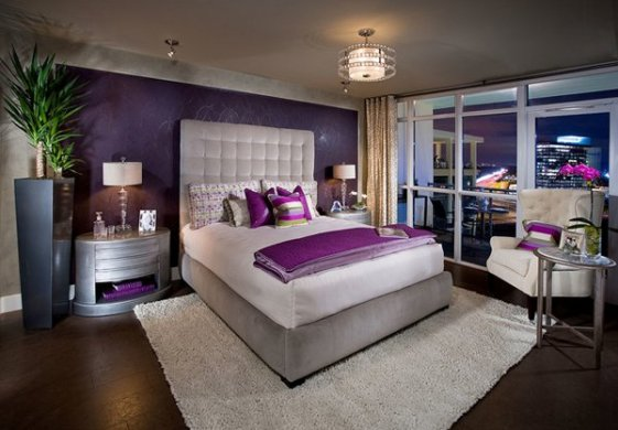 20 Pleasant Purple and Gold Bedrooms   Home Design Lover gold bedroom design
