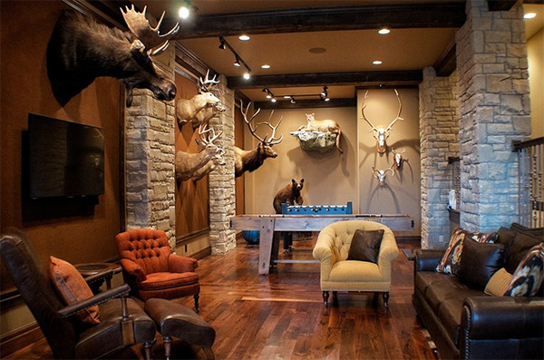 Animal Head Wall Decors In 20 Home Interiors Home Design