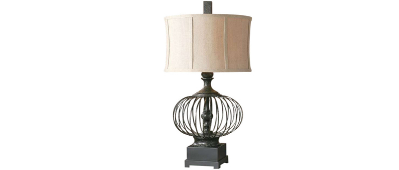 Rustic Black Table Lamp