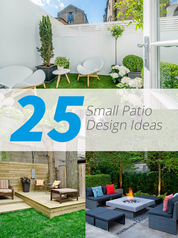 25 practical small patio ideas for