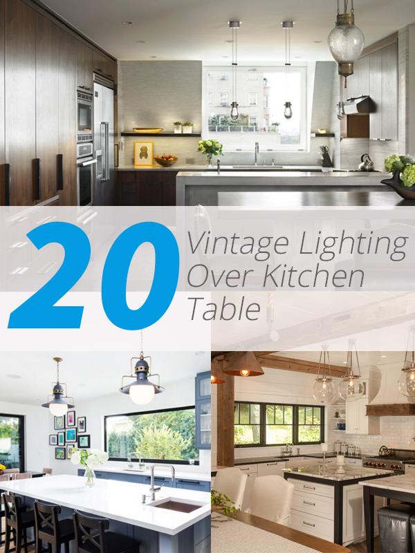 20 charming vintage lighting over