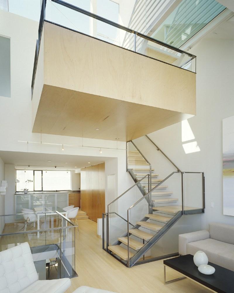 22 Sleek Glass Railings For The Stairs Home Design Lover   Stair Railing Design Glass   Steel Stair   Oak Staircase   Steel   Staircase Remodel   Stainless Steel Railing