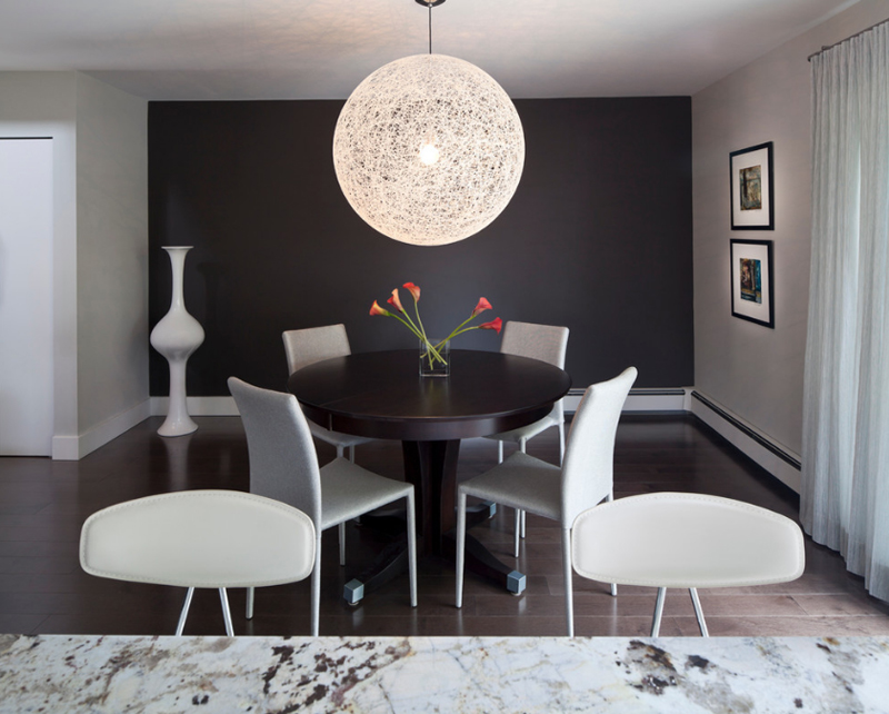 20 Beautiful Dining Rooms With Black Accent Walls Home