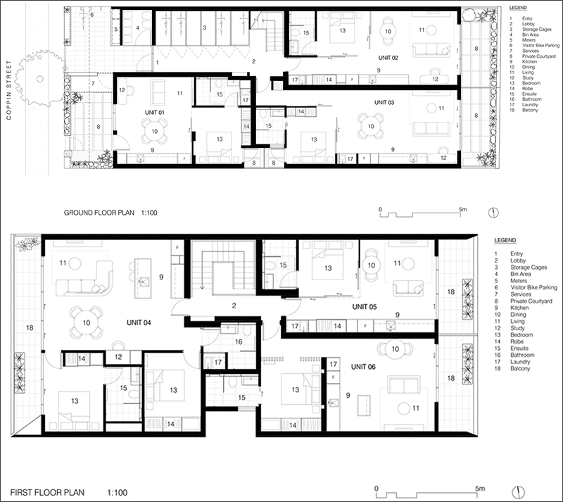 Coppin Street Apartments floor plan