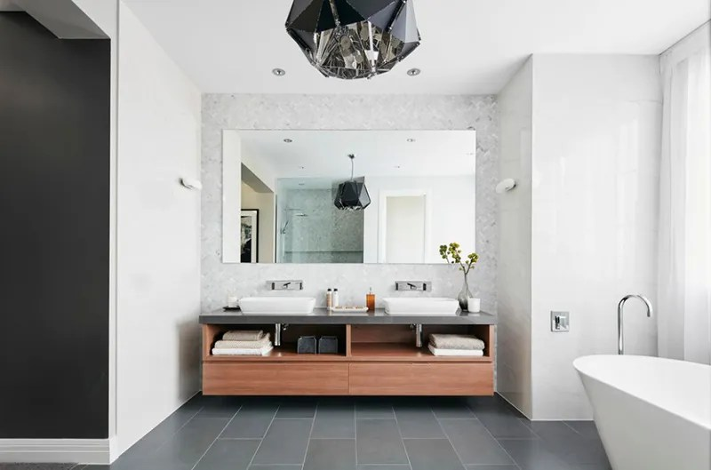 choose the sinks, tapware and benchtops so that they make a perfect combination and complement one another.