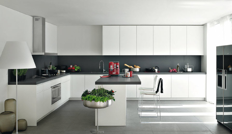 Modern White And Wood Kitchen Designs