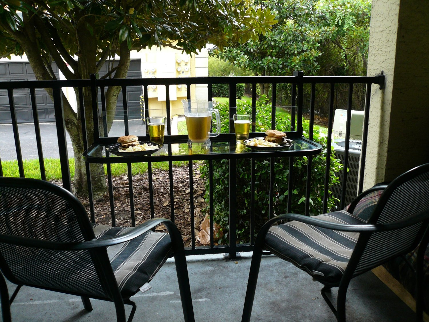 Chairs Balcony Table And