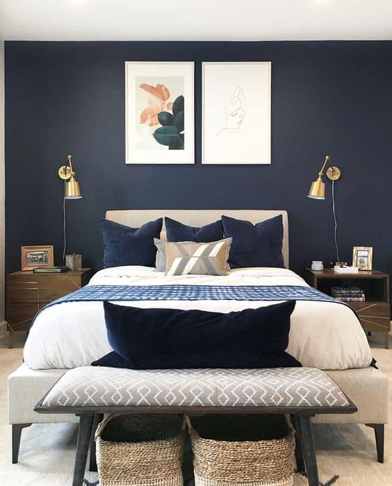 Navy Blue and Monaco Blue
