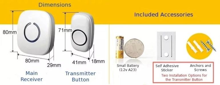 SadoTech Wireless Doorbells